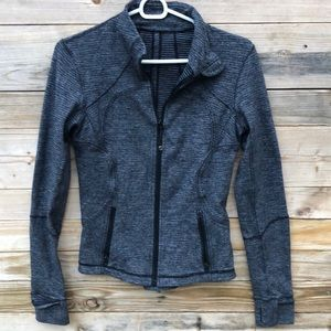 Lululemon | Black Heathered Coal Forme Jacket 6